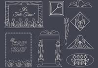 Art Deco Tulips PSD Set