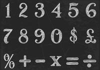Chalk Drawn Numbers PSD Set