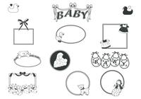 Retro Baby Frames Brushes