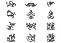 Swirly Scroll Ornaments Brushes