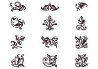 Swirly scroll ornamentos pincéis