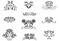 Vintage Floral Ornaments Brushes