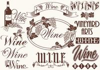 Vintage Wine Elements Brushes