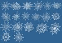 20 Snowflake Brushes Pack