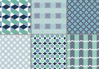 Blue Geometric Pattern Pack