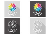 Abstrakt Flower PSD Set