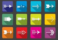 Flat Arrow Icons PSD Set