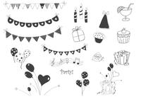 Doodle Party Elements Brushes