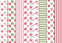 Floral-stripes-patterns