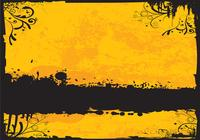 Golden Grunge Background PSD