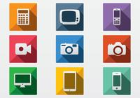 Flat Technology Icon PSD