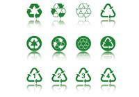 Grün Recycling Icon PSD Pack