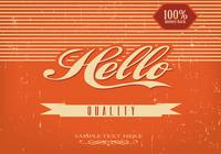 Vintage Hello Background PSD