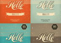 Vintage Hello Background Pacote PSD