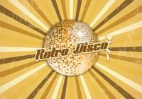 Retro disco bola fundo psd