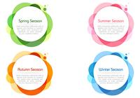 Seasonal Colors Bubble Banners PSD Set