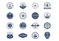 Vintage Nautical Abzeichen PSD Set