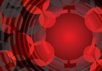Red abstract circle background psd