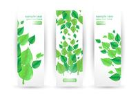 Leaf Banners PSD Set