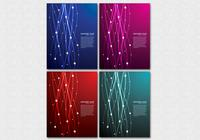 Glowing Lines Background PSD