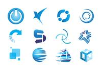 Blaue Icons PSD Set