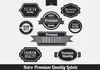 Black Retro Premium Label PSDs
