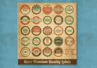 Étiquettes premium premium psds