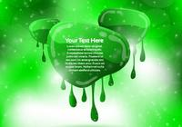 Green Dripping Banner Background PSD