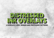 Distressed Ink Texture Overlays