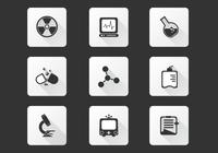 Iconos de Laboratorio Médico PSD Pack