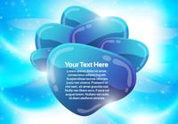 Blue Abstract Bubble Background PSD