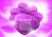 Purple Abstract Bubble Background PSD