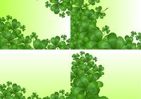 Clover Backgrounds Conjunto PSD