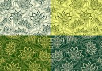 Emerald Vintage Floral Patterns