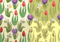 Seamless-tulip-and-daffodil-patterns-photoshop-backgrounds