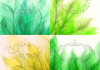 Swirly frame leaf backgrounds psd