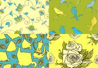 Teatime-bird-and-floral-patterns