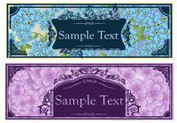 Banners florales vintage PSD Set