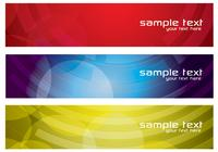 Färgglada Abstrakta Banners PSD Set Two
