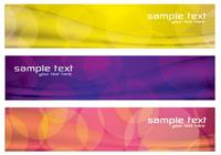 Banners abstratos coloridos PSD Set Three