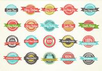 Retro patroon label set psd