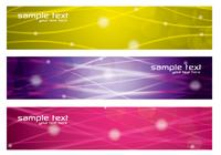 Colorful Glowing Lines Banners PSD Pack