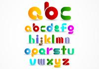Colorful Modern Alphabet PSD