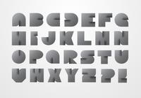 Modernt origami alfabet psd
