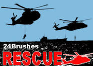 24 Rescue Helicopter Brushes