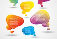 Glossy Speech Bubbles Zwei PSD Pack