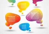Glossy Speech Bubbles Zwei PSD Pack