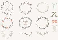 Handdragen Laurels Wreaths PSD Collection