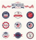 Ensemble PSD pour badges du Memorial Day