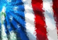 Polygonal American Flag Background PSD Deux